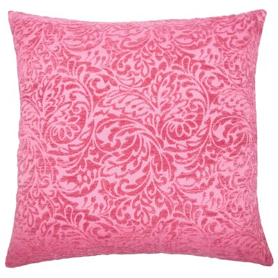 Taline Damask Throw Pillow Cover Color: Azalea