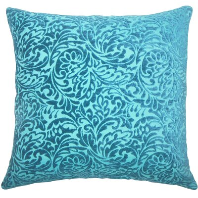 Taline Damask Throw Pillow Cover Color: Peacock