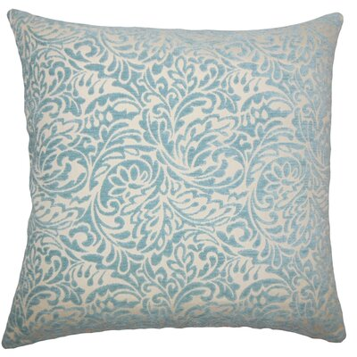 Taline Damask Throw Pillow Cover Color: Turquoise