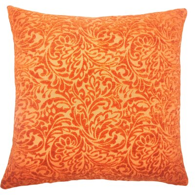 Taline Damask Throw Pillow Cover Color: Tangerine
