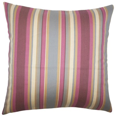 Tefo Striped Throw Pillow Cover Size: 18 x 18, Color: Orchid