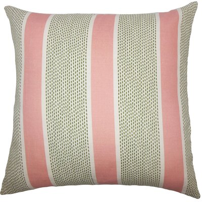 Velten Striped Throw Pillow Cover Size: 18 x 18, Color: Pink Green