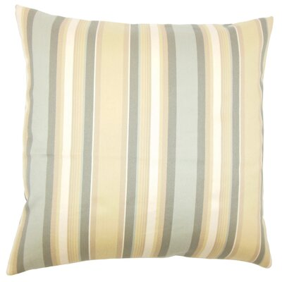 Tefo Striped Throw Pillow Cover Size: 18 x 18, Color: Dune