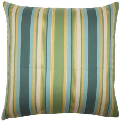 Tefo Striped Throw Pillow Cover Size: 18 x 18, Color: Cabana