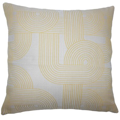 Utara Geometric Bedding Sham Size: King, Color: Sunshine