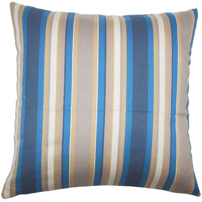 Tefo Striped Throw Pillow Cover Size: 18 x 18, Color: Indigo