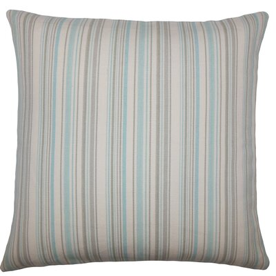 Velika Striped Bedding Sham Size: Euro, Color: Sea Glass