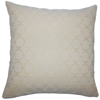 Vadim Geometric Bedding Sham Size: Queen, Color: Sisal