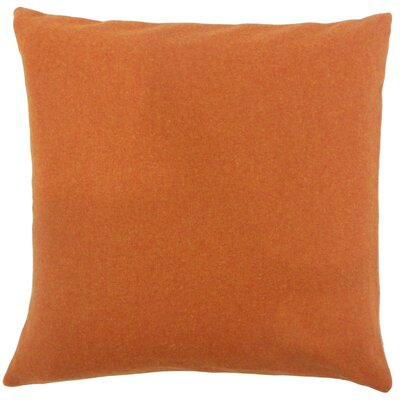 Vella Solid Bedding Sham Size: King, Color: Pumpkin