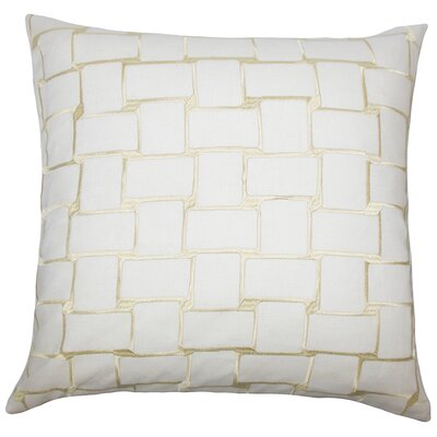 Kalyca Geometric Bedding Sham Size: King, Color: Buff