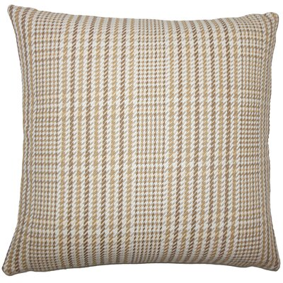 Kalle Houndstooth Bedding Sham Size: King, Color: Driftwood