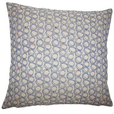 Ladarius Geometric Bedding Sham Size: King, Color: Blueberry