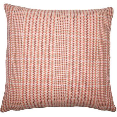 Kalle Houndstooth Bedding Sham Size: Queen, Color: Melon