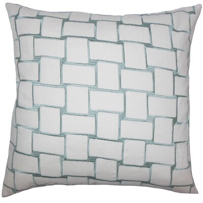 Kalyca Geometric Bedding Sham Size: Queen, Color: Aqua