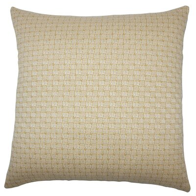 Nahuel Geometric Bedding Sham Size: King, Color: Bamboo