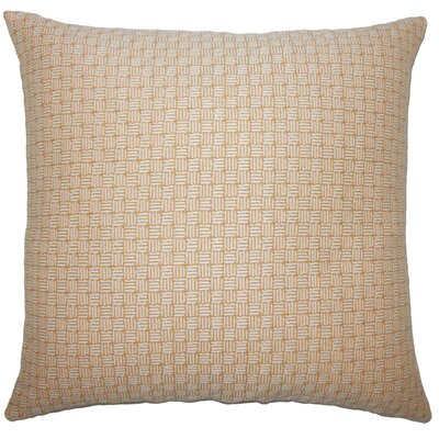 Nahuel Geometric Bedding Sham Size: Standard, Color: Honey