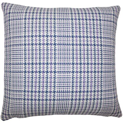 Kalle Houndstooth Bedding Sham Size: Euro, Color: Plum