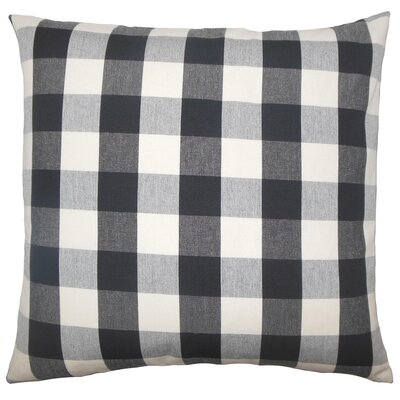 Nelson Plaid Bedding Sham Size: Euro, Color: Black White