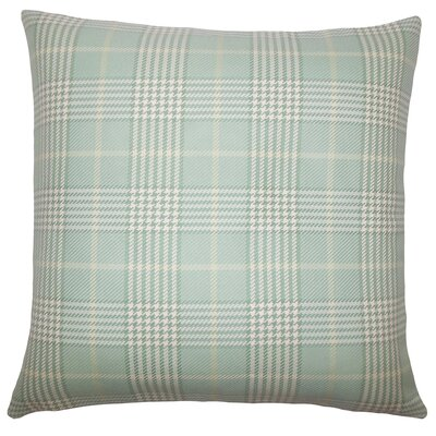 Landen Houndstooth Bedding Sham Size: King, Color: Seaglass
