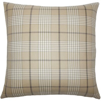 Landen Houndstooth Bedding Sham Color: Mushroom, Size: King
