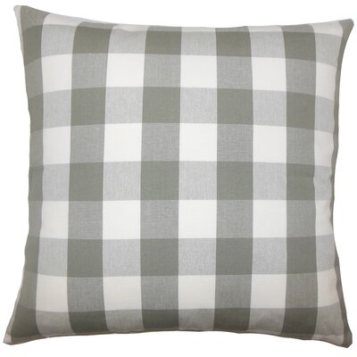Nelson Plaid Bedding Sham Size: Euro, Color: Iron
