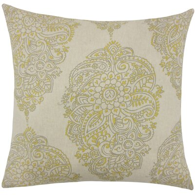 Lanza Damask Bedding Sham Size: Euro, Color: Yellow