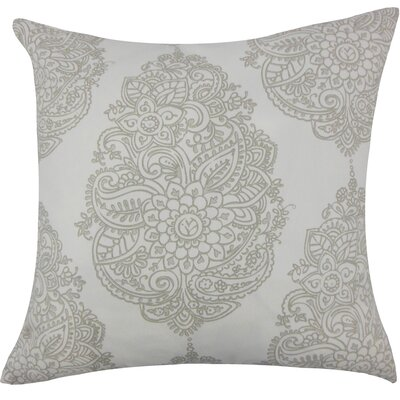 Lanza Damask Bedding Sham Size: Queen, Color: Gray
