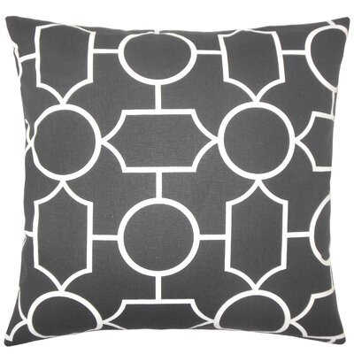 Samoset Geometric Bedding Sham Size: King, Color: Ebony