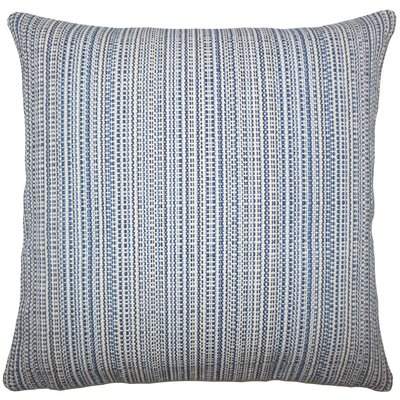 Macall Striped Bedding Sham Size: Euro, Color: Lapis
