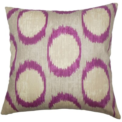 Ridha Ikat Bedding Sham Size: Euro, Color: Currant