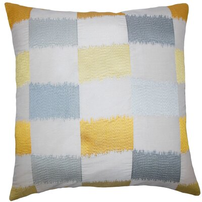 Ruchel Geometric Bedding Sham Size: King, Color: Blue / Yellow
