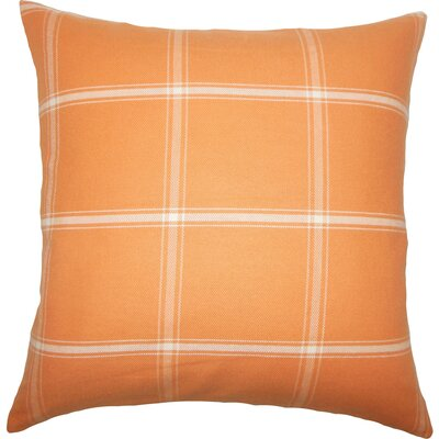 Sabriyya Plaid Bedding Sham Size: King, Color: Sundance