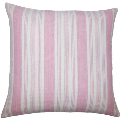 Reiki Striped Cotton Pillow Cover Color: Pink