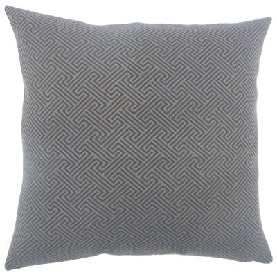Reijo Geometric Bedding Sham Size: Standard, Color: Blue