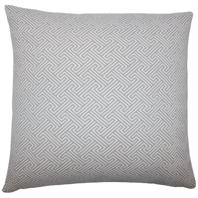 Reijo Geometric Throw Pillow Cover Color: Linen