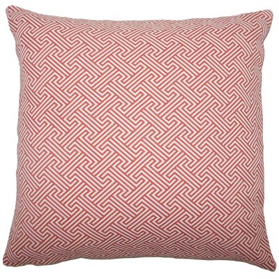 Reijo Geometric Throw Pillow Cover Color: Carnation