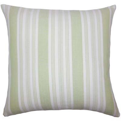 Reiki Striped Bedding Sham Color: Honeydew, Size: King