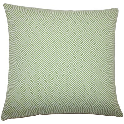 Reijo Geometric Bedding Sham Size: King, Color: Kiwi