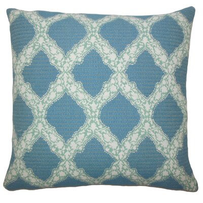 Albina Geometric Floor Pillow Color: Turquoise
