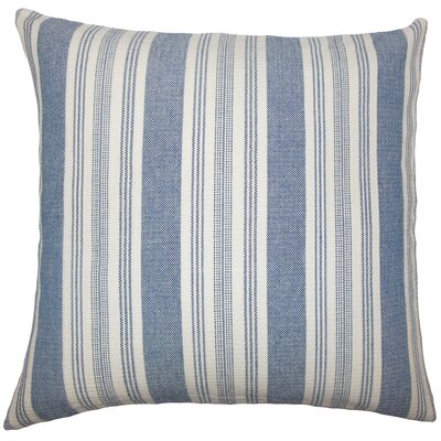 Reiki Striped Bedding Sham Size: Queen, Color: Denim