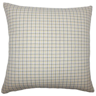 Quora Plaid Bedding Sham Size: Euro, Color: Sunflower