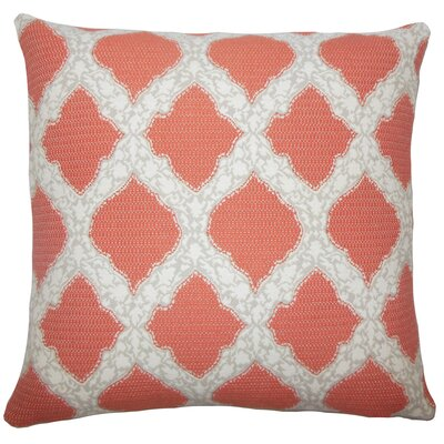 Rajiya Geometric Bedding Sham Size: King, Color: Coral