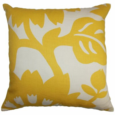 Pittman Floral Cotton Throw Pillow Size: 22 x 22