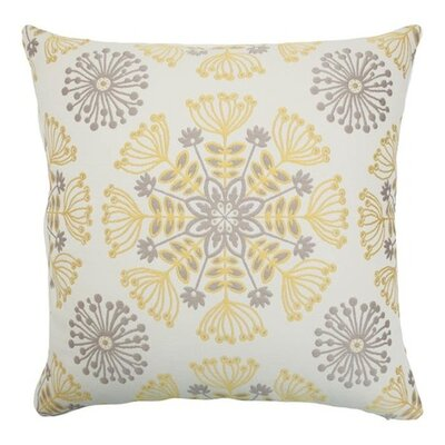 Jamesie Floral Bedding Sham Size: Euro, Color: Gray