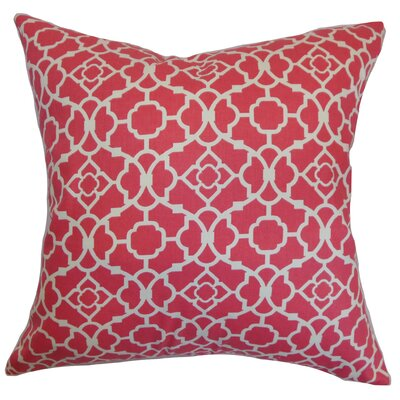 Kalmara Geometric Bedding Sham Size: Queen, Color: Pink
