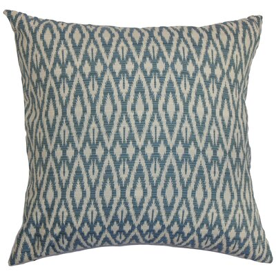 Delmer Ikat Bedding Sham Size: Euro, Color: Denim