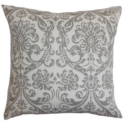Mankin Damask Bedding Sham Size: Euro, Color: Gray
