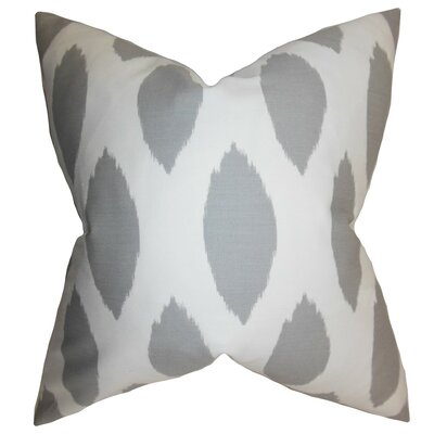 Juliaca Ikat Bedding Sham Color: Gray, Size: Euro