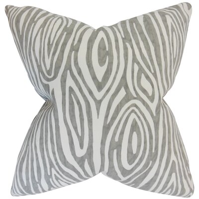 Thirza Swirls Bedding Sham Size: Queen, Color: Gray