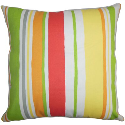 Ibbie Stripes Throw Pillow Cover Color: Green Yellow